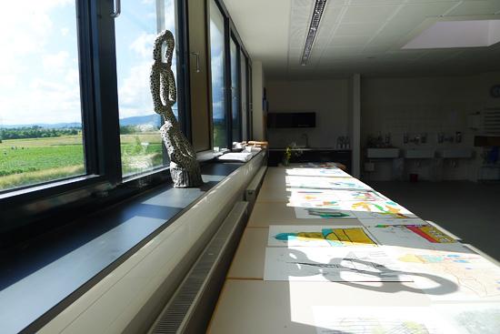 Blick aus dem Malatelier der Praunheimer Werkstätten