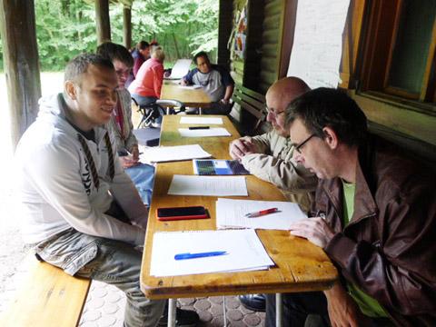 Kunst-Workshop Texter bei der Arbeit