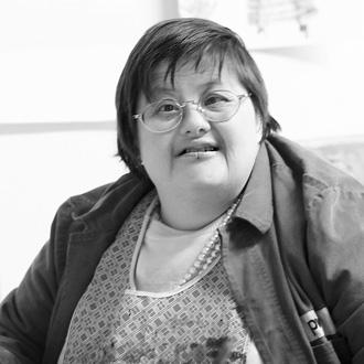 Die Künstlerin Birgit Ziegert aus den Praunheimer Werkstätten, verstorben im Oktober 2017.