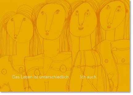 Postkarte mit Zitat ausText von Robert Henschel