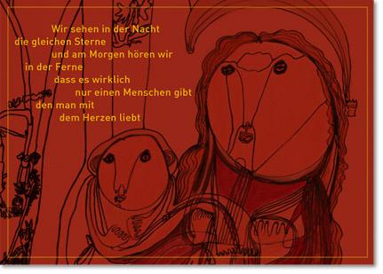 Textkarte der Stiftung Praunheimer Werkstätten zu Weihnachten