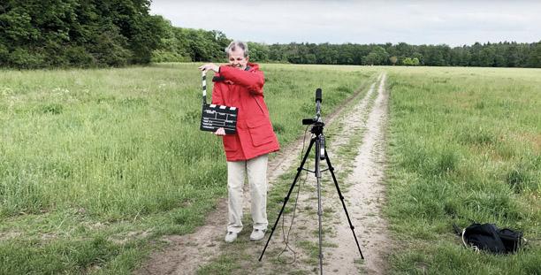 Peter Hommen bei den Dreharbeiten zu seinem Film